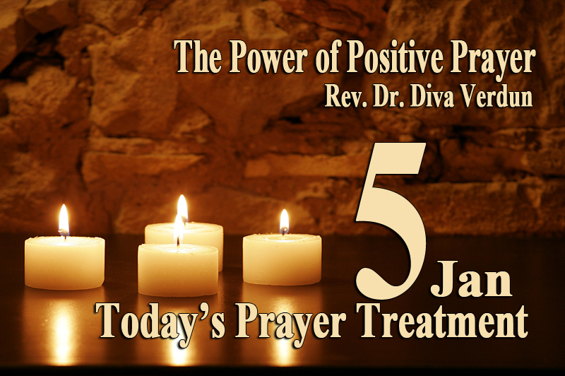 Today's Prayer Treatment – Dr. Diva Verdun, Empowerment Coach, Minister, Spiritual Practitioner and, Counselor