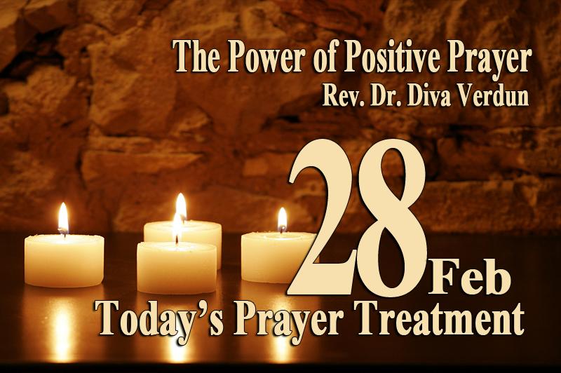 Today's Prayer Treatment – Dr. Diva Verdun, Empowerment Guru, Minister, Spiritual Practitioner and, Counselor